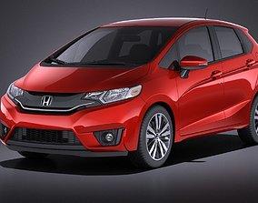 3D model Honda Fit 2017 VRAY
