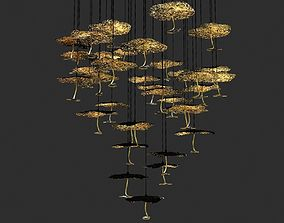 3D Catellani and smith gold moon chandelier