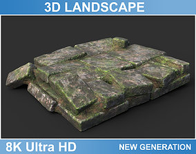 3D model Low poly Ruin Medieval Construction 03 2020