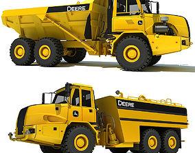 Set of 2 Deere Trucks 3D model