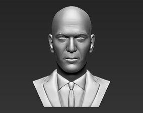 Zinedine Zidane bust 3D printing ready stl obj