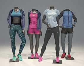 Woman mannequin Nike pack 2 3D