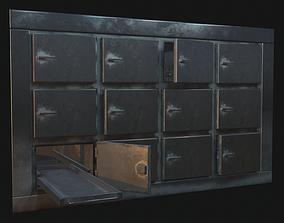 3D model Morgue refrigerator