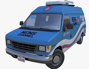 3D model American generic newsvan