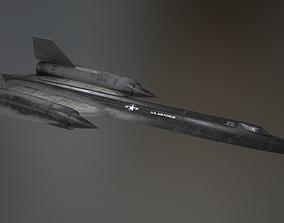 3D asset SR-71 PBR low-poly model