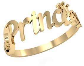 3D print model ring little Princess