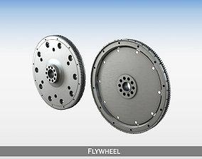 Flywheel 3D piston