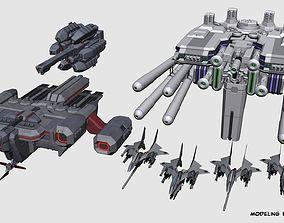 SA-77 Shilpheed Spacecraft Set 3D