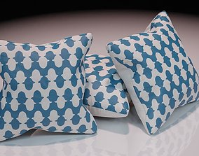 3D model Contemporary colourful cushion design 8
