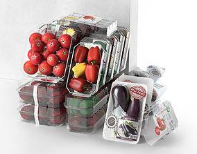 3D plastic Packed Vegetables