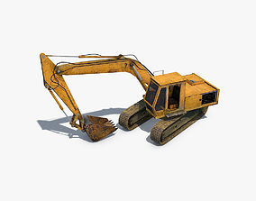 3D model low-poly Excavator