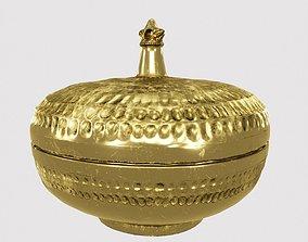 Palace Round Brass Box 3D asset