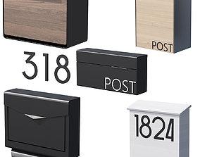 3D model 041 Modern Mailboxes 01 Wallmounted 00