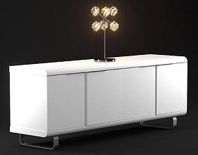 Cubic Sideboard for your interior livingroom 3D