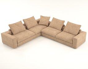 Venus Brown corner sofa 3D