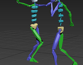 more than100 Biped Motion Capture Files 3D model