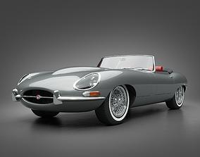 3D model 1964 Jaguar E-Type 4 2 Roadster