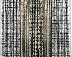 3D model Curtain Set 35