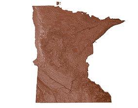 3D print model Minnesota Relief Map