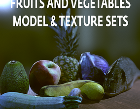 model FRUITS AND VEGETABLES 3D asset game-ready