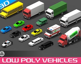 Low Poly Vehicles 3D asset VR / AR ready