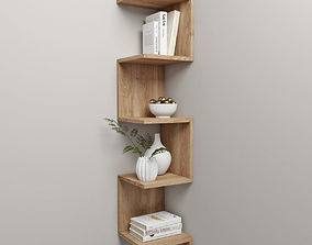 3D corner shelf and decor