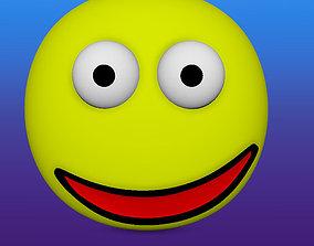 Smiley Face emoji 3D model
