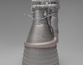 F-1 Rocket Engine 3D model