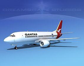 3D model Boeing 737-300 Qantas