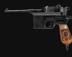 3D model Mauser C96 PBR GameReady