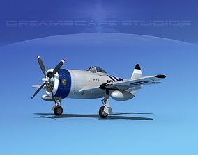 3D model Republic P-47D Thunderbolt V16