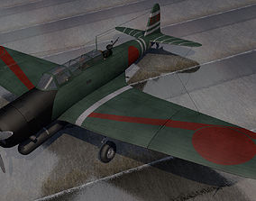 3D model Nakajima B5N2 Kate
