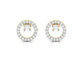 radiant jewellery Women earrings 3dm render detail
