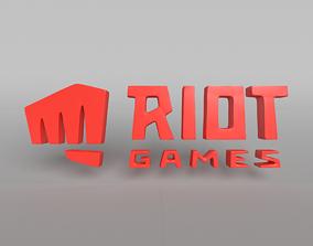 3D model Riot Logo 003