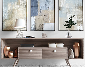 Chest of drawers with decor 3D