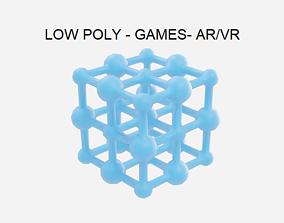 Low Poly Sodium Chloride Molecule - Chemistry Lab 3D asset