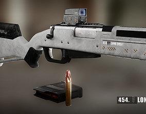 454 Long Drill Rifle 3D asset