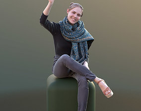 3D asset Marie 10402 - Sitting Casual Girl