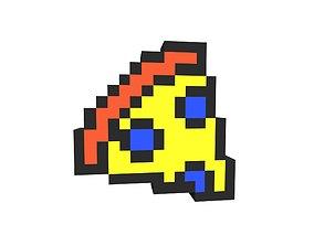 Pixel Pizza v1 004 3D asset