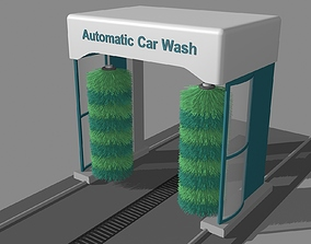 The Simple Automatic Car Wash Machine 3D