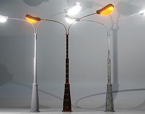 3D asset A collection of Street Lamps - Set IV