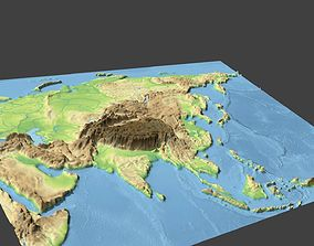 Map Of Asia 3d.China Map 3d Oriental Cgtrader