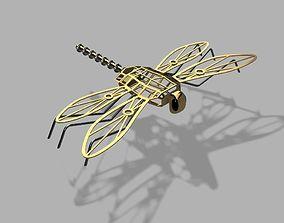 Steampunk Dragonfly 3D printable model