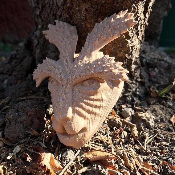 Deer God Mask 3D Print