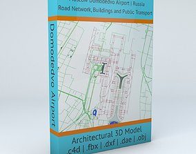 3D model Domodedovo DME Moscow Airport Roads Buildings 2