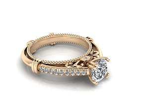 Ring 16 3D printable model gold