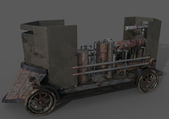 Flame Thrower Vehicle