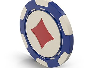 Diamonds Casino Chip 3D