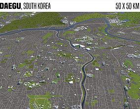 Daegu South Korea 50x50km 3D model