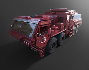 toy game object military fire truck 3D printable model
